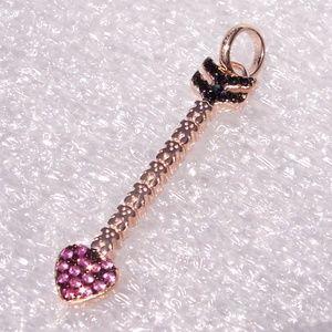 TOUS San Valentín Vermeil Arrow Pendant Rose Gold